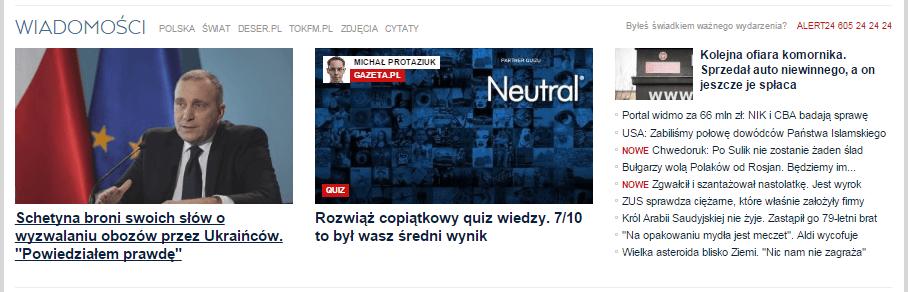 Przykład rozbitej pętli artykułów z serwisu gazeta.pl